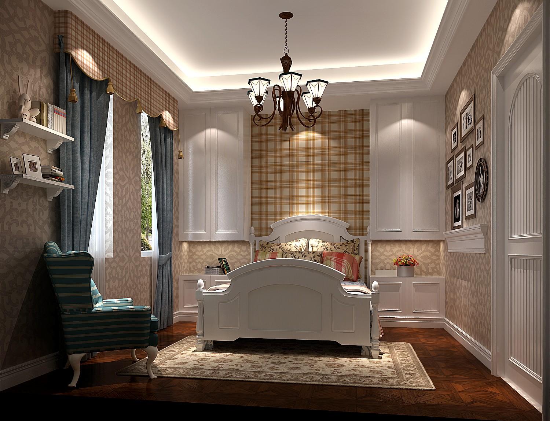 卧室图片来自专业别墅设计工作室在美式风格装修的分享