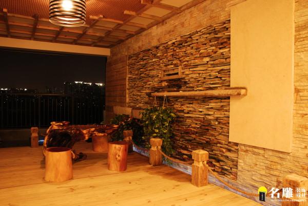 名雕装饰设计-纯水岸三居室文艺雅居-花园小景