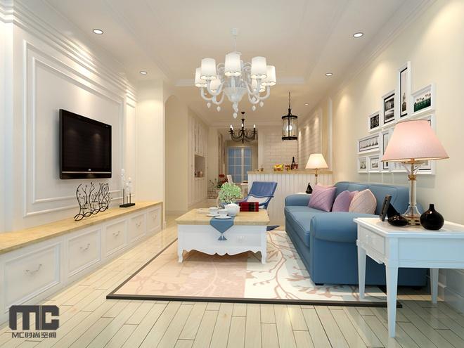 简约 欧式 田园 混搭 二居 白领 客厅图片来自上海倾雅装饰有限公司在城南新村的分享