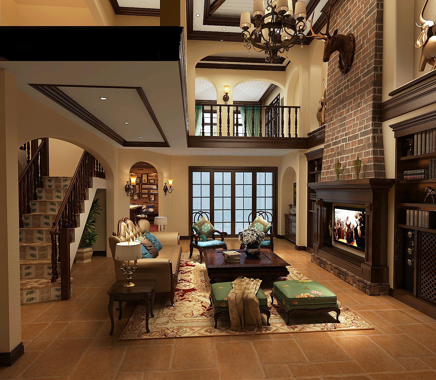 客厅图片来自专业别墅设计工作室在远洋傲北别墅装修设计案例的分享