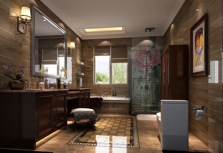 卫生间图片来自专业别墅设计工作室在新中式风格装修的分享