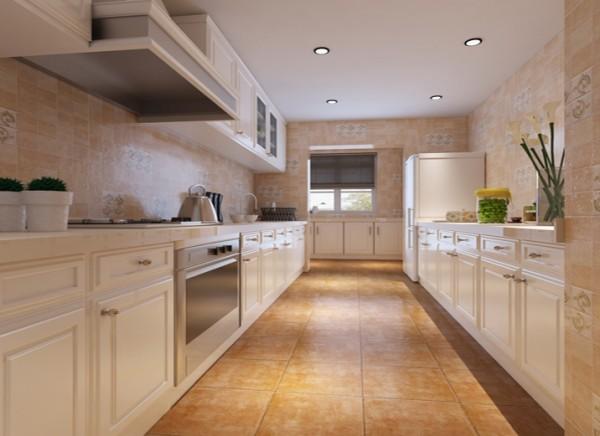 简洁明快的小厨房设计理念:白色的橱柜,小碎花仿古砖,简洁明快的小厨房。 亮点:活跃的小碎花仿古砖让枯燥的厨房操作过程变得更有趣。