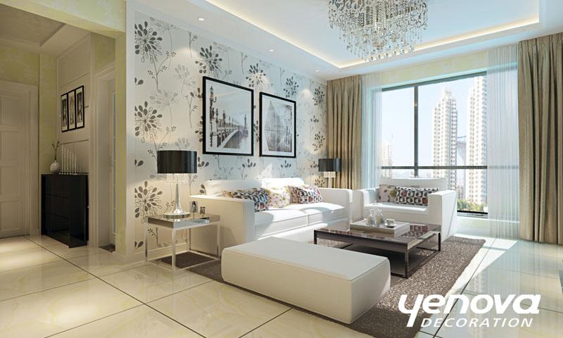 简约 二居 装修效果图 兰州装修 设计案例 现代简约 客厅图片来自兰州业之峰装饰公司在清爽生活的分享