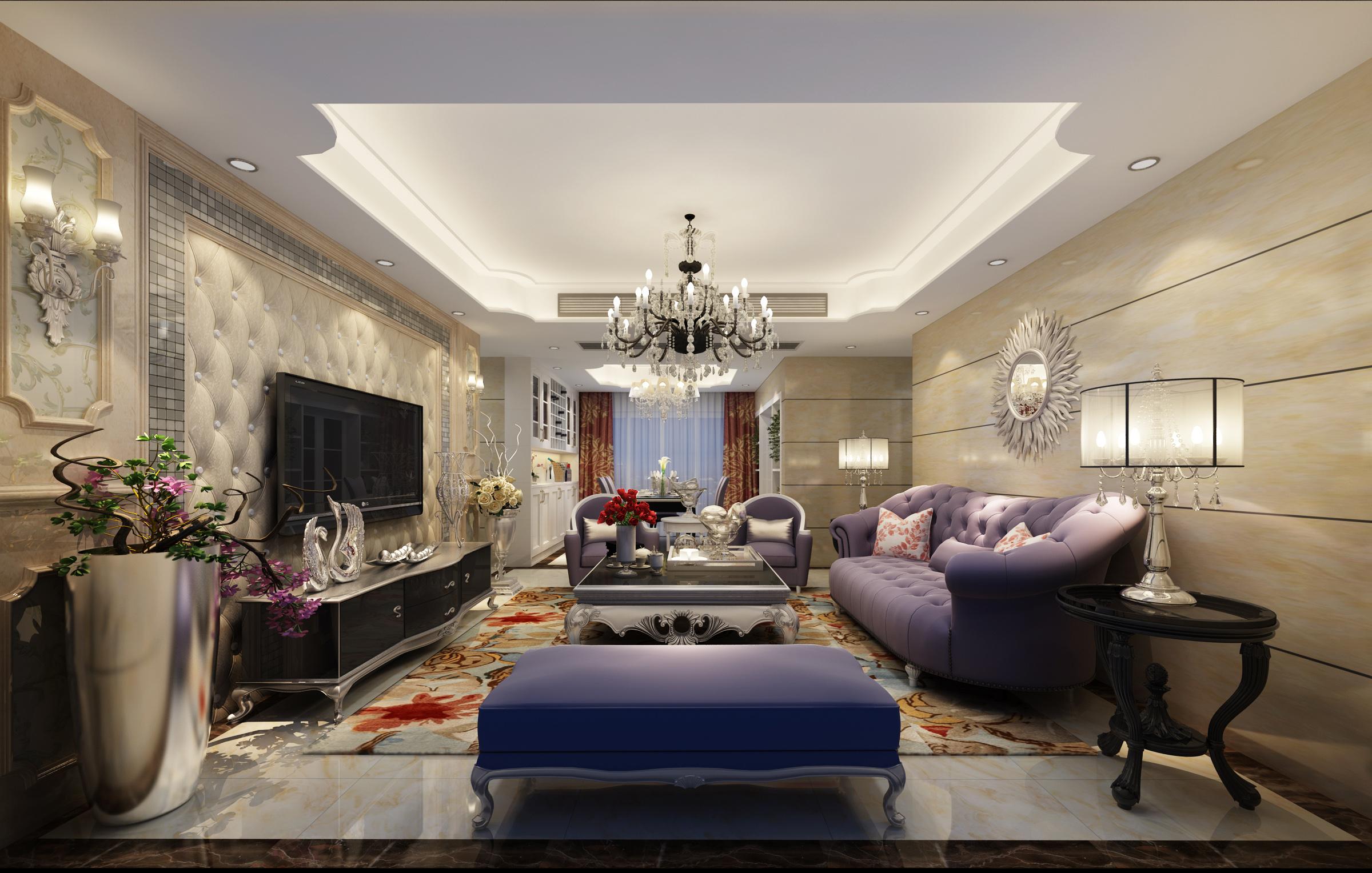 欧式 四居室 华府国际 自然元素 80后 收纳 客厅 客厅图片来自自然元素装饰马晓丹在华府国际12万轻松打造欧式风格的分享