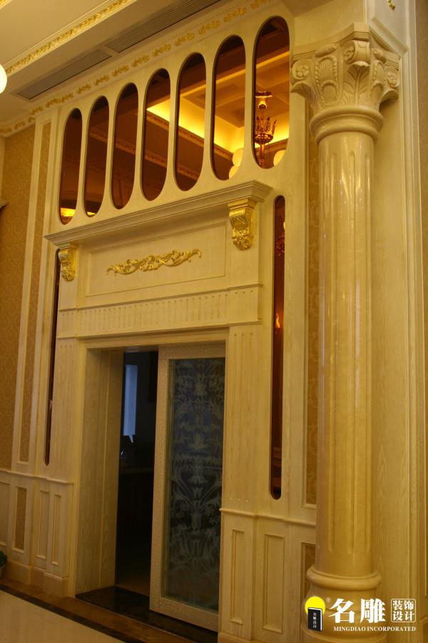 名雕装饰设计-宏发领域复式楼阁-简欧风格玄关