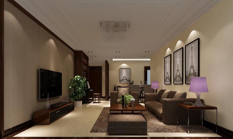 客厅图片来自沙漠雪雨在中信新城140㎡现代简约三居的分享