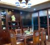 名雕装饰设计-鸿景翠峰二居室雅居-中式餐厅