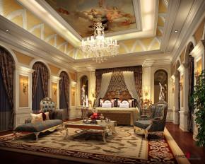 欧式 别墅 高富帅 白富美 公主房 名雕丹迪 兰乔圣菲 卧室 卧室图片来自名雕丹迪在欧式古典—500平奢华别墅装修的分享