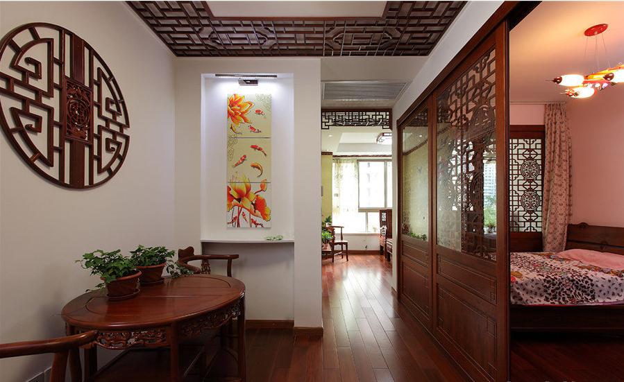 别墅 旧房改造 中式 帝湖花园 玄关图片来自超凡装饰金牌工长路竹在帝湖花园200平米的分享