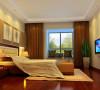 主卧室追求的是功能与形式的完美统一,优雅独特、简洁明快的设计风格。