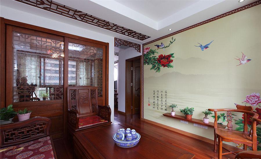 别墅 旧房改造 中式 帝湖花园 餐厅图片来自超凡装饰金牌工长路竹在帝湖花园200平米的分享