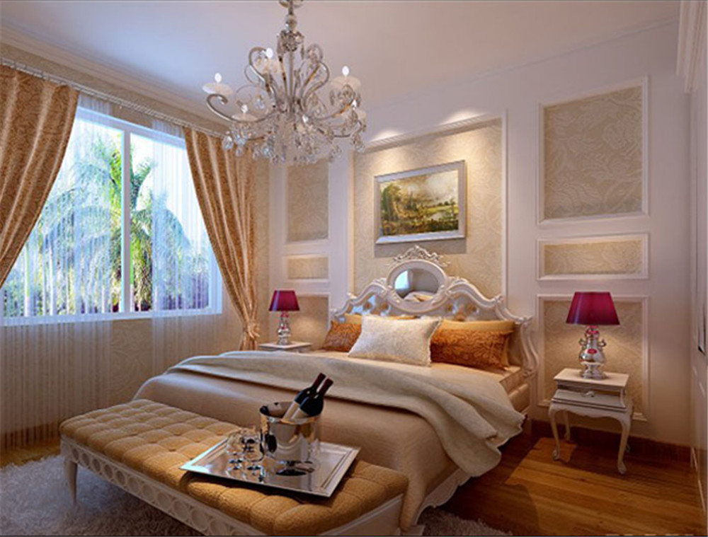 欧式 二居 白领 收纳 80后 小资 卧室图片来自实创装饰完美家装在高贵不失典雅演绎湖光小区简欧风的分享