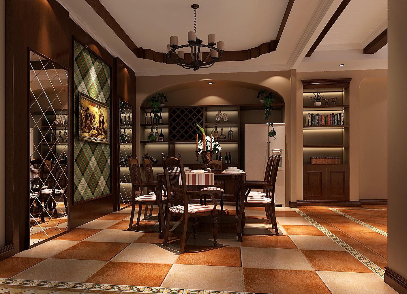 餐厅图片来自专业别墅设计工作室在美式风格装修的分享