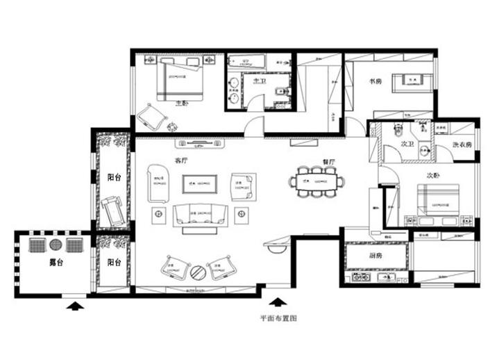欧式 混搭 三居 白领 收纳 80后 小资 户型图图片来自shichuangyizu在海棠公社简欧。三居室的分享