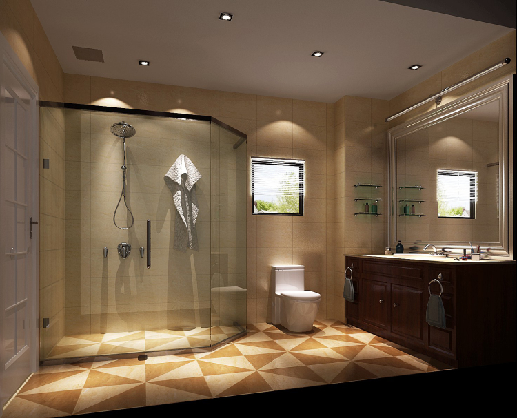别墅 欧式 卫生间图片来自专业别墅设计工作室在简欧风格的分享