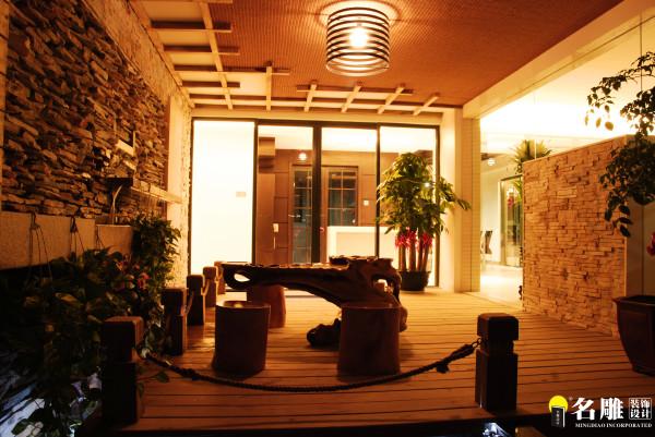 名雕装饰设计-纯水岸三居室文艺雅居-休闲茶室:引室外的风景入室内,使加的观赏性与实用性与一体!