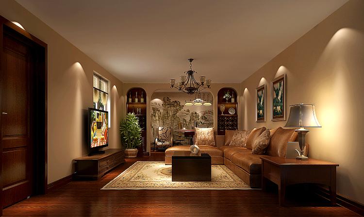 中式 西式 混搭 一层带地下 风水 白领 小资 客厅图片来自沙漠雪雨在旭辉御府279㎡中西结合公寓的分享