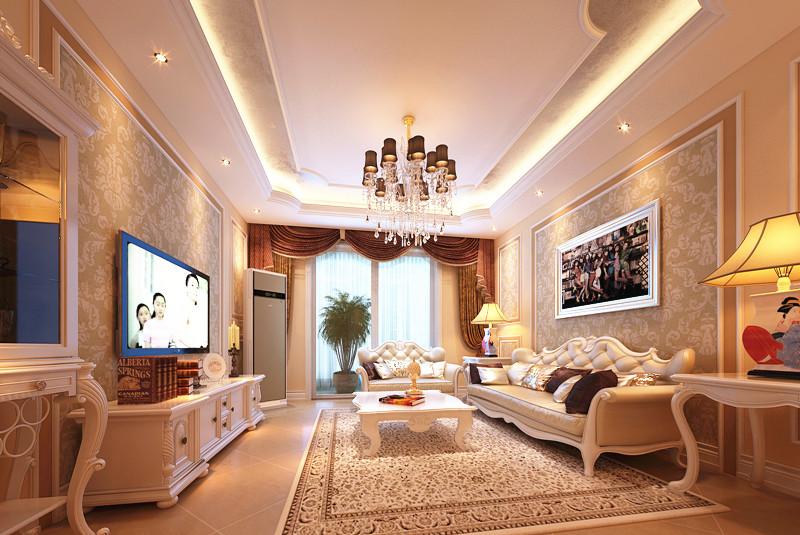 简约 二居 80后 小资 法式风格 浪漫 欧式 收纳 白领 客厅图片来自北京实创装饰石头在金地仰山法式风格两居,典雅浪漫的分享