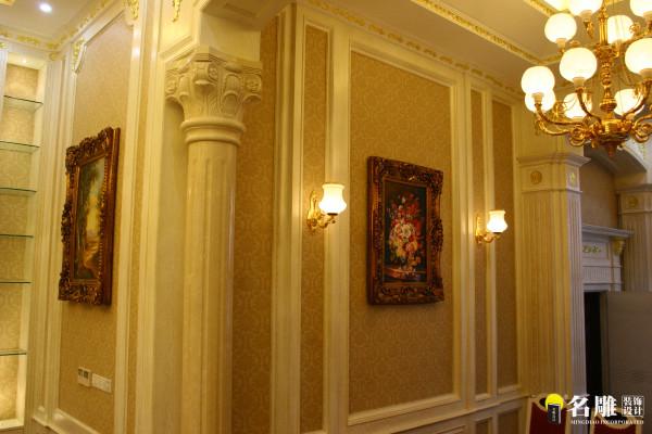 名雕装饰设计-宏发领域复式楼阁-简欧风格墙面装饰