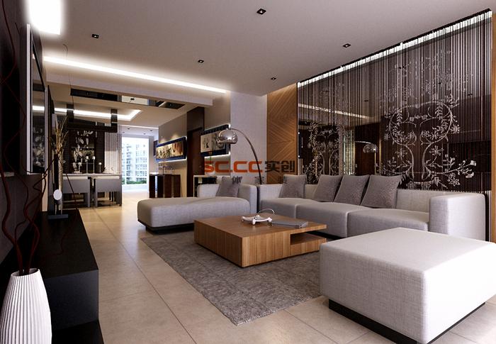 香石公寓 杭州设计图 现代简约风 装修效果图 实创装饰图片来自实创装饰杭州公司在香石公寓137平现代简约风设计图的分享