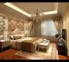 卧室 同样延续了客厅淡黄色的风格,装有欧式壁纸现代墙加上欧式的窗帘,让卧室变得充满阳光,可以让人很好的休息,睡眠。