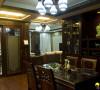 名雕装饰设计-东方尊峪三居-现代中式餐厅