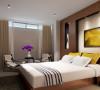 次卧室的设计简洁明快优雅舒适
