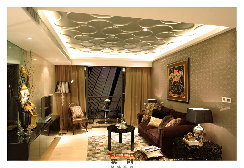 客厅图片来自成都实创装饰在都市下繁华的夜空的分享
