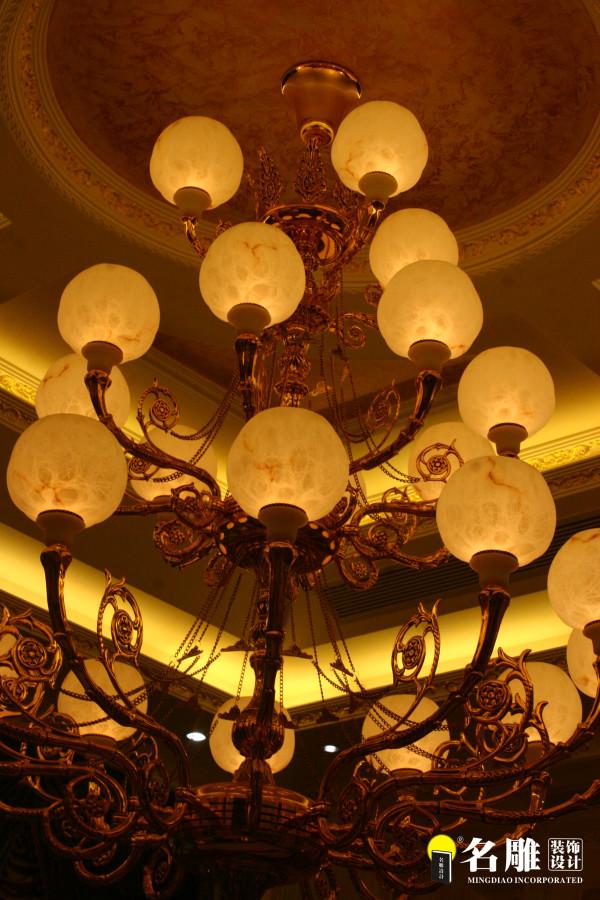 名雕装饰设计-宏发领域复式楼阁-简欧风格吊灯