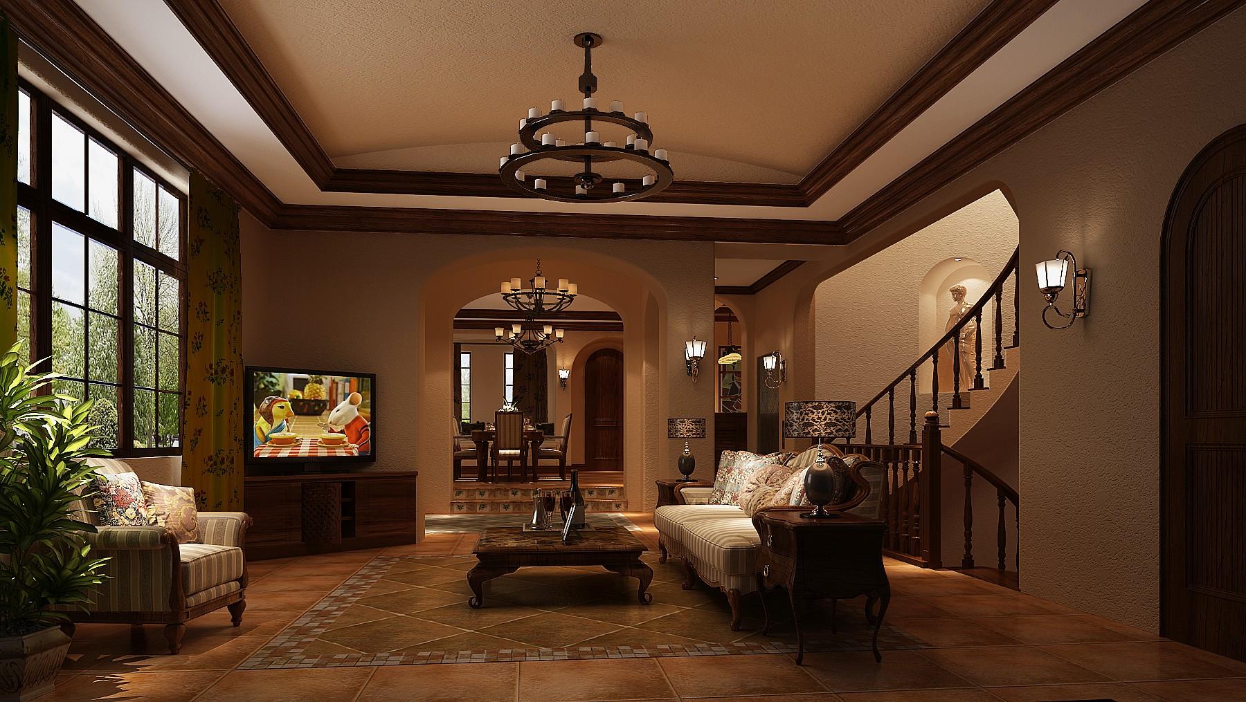 客厅图片来自专业别墅设计工作室在远洋傲北的分享