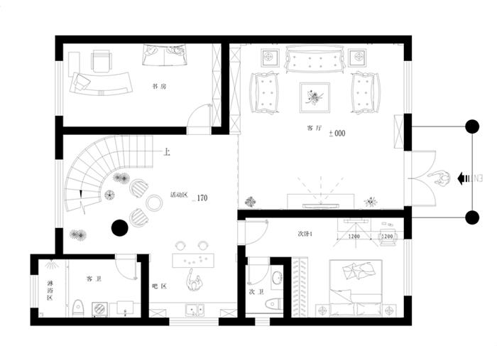 别墅装修 装修效果图 欧式设计图 实创装饰 欧式别墅图片来自实创装饰杭州公司在280平别墅欧式装修设计效果图的分享