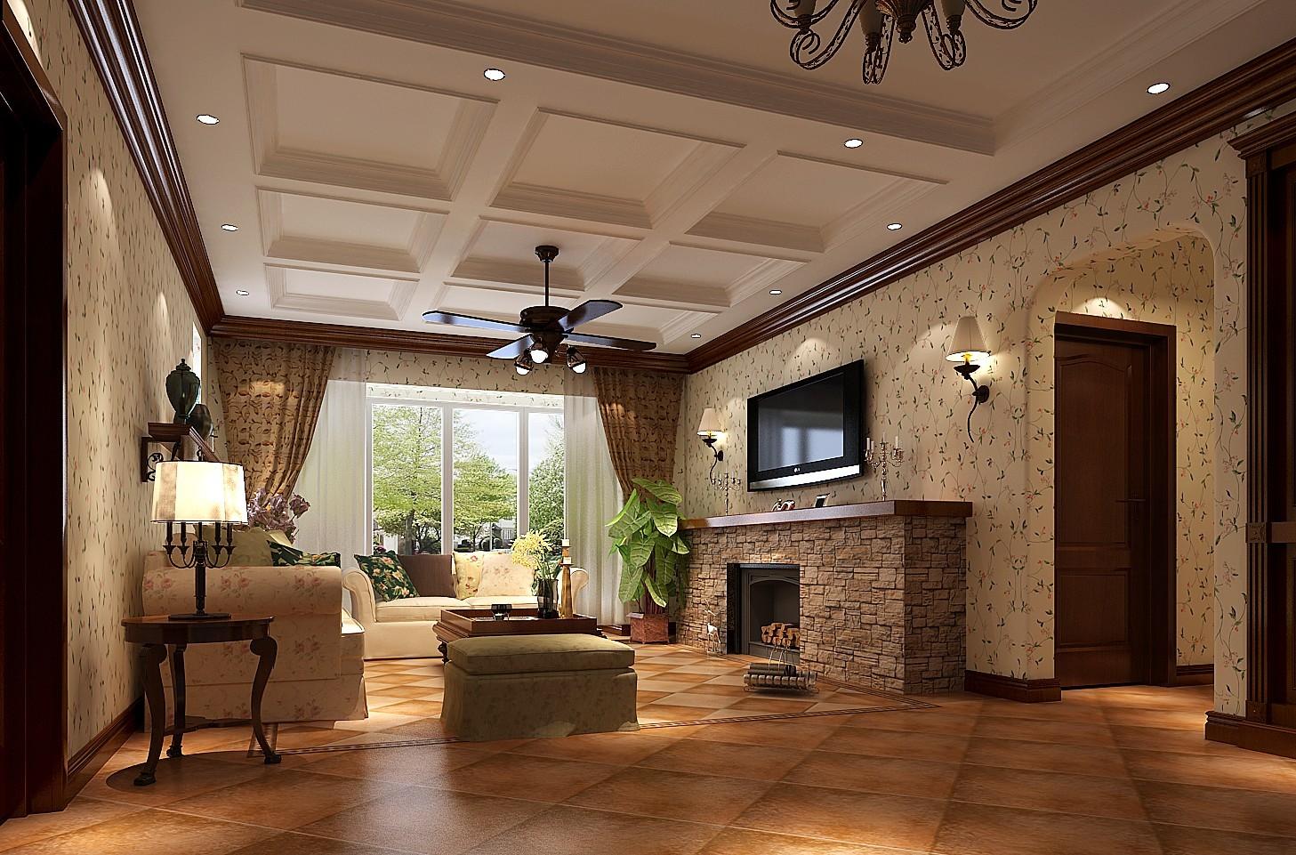 客厅图片来自专业别墅设计工作室在托斯卡纳风格的分享