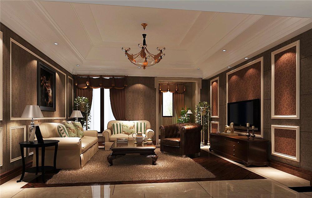 客厅图片来自专业别墅设计工作室在托斯卡纳风格别墅装修的分享