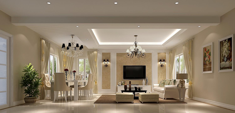 客厅图片来自凌军在潮白河孔雀城190平米---高度国际的分享