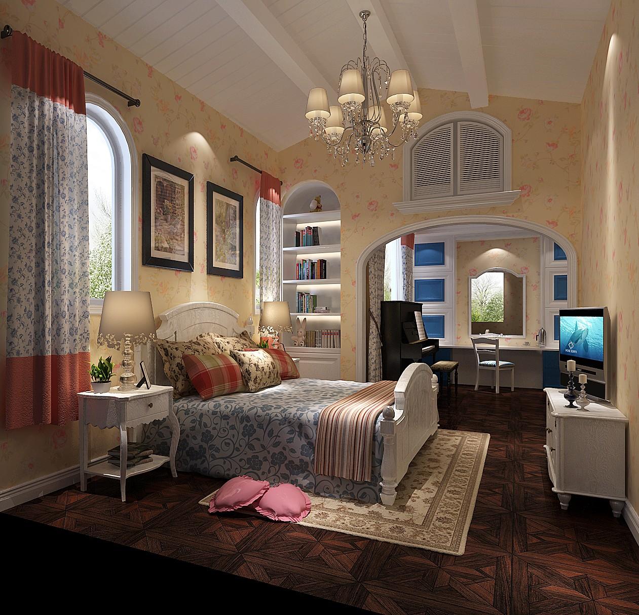 卧室图片来自专业别墅设计工作室在远洋傲北别墅装修设计案例的分享