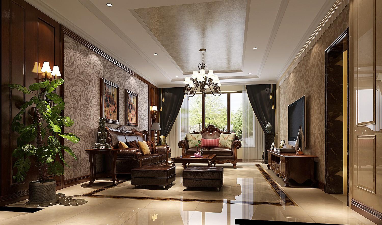 客厅图片来自专业别墅设计工作室在中式风格装修的分享