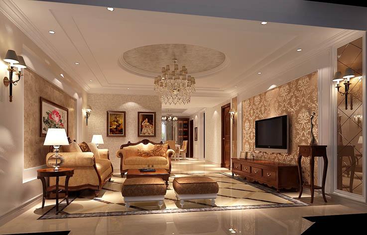 四居 简欧 白领 北京装修 高度国际 80后 小资 客厅图片来自高度国际装饰华华在用简单的线条勾勒出不简单造型的分享