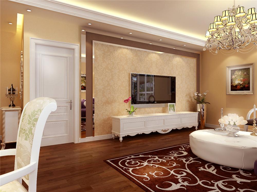 欧式 二居 白领 收纳 80后 小资 客厅图片来自实创装饰完美家装在高贵不失典雅演绎湖光小区简欧风的分享