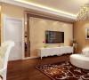 客厅,温馨、浪漫、典雅;才用了实木地板、花式吊灯,柔和的地毯等高档材质。没有过多累赘复杂的造型,体现了主人的内蕴品性。沙发造型是的实木与浪漫的紫色布艺相结合,典雅又不失大气。