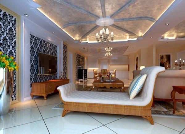 造型简洁大方,没有过多的装饰效果,但免不了在一些细节处做处理,客厅休闲区墙造型被安置在空间结构的交汇处,与一幅色彩鲜艳的油画想呼应,敞开的客厅提供了一个视觉中心,且充分利用空间