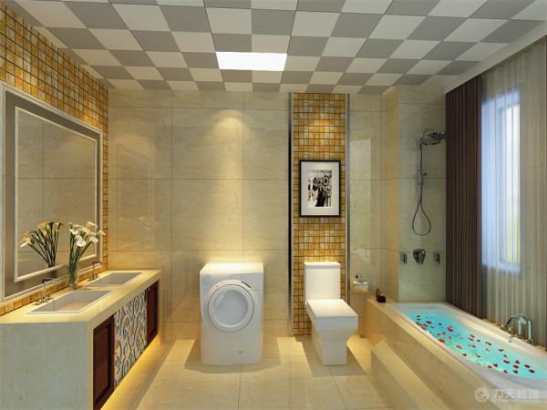 卫生间淋浴、手盆、马桶、洗衣机都能放置下,厨房烹饪空间较大,而且采光明亮。