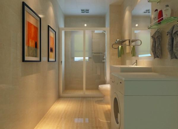 卫生间作为一个特别的空间不需要太多的装饰,但是一定要干净整洁,所以颜色要统一。
