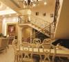 名雕装饰设计-纯海岸复式楼阁-欧式餐厅