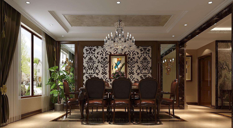 餐厅图片来自专业别墅设计工作室在中式风格装修的分享