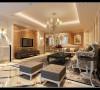 客厅的浅黄色发出的清新淡雅的味道,时尚的欧式沙发和电视背景墙呼应,让整个客厅显出了高贵,轻松,愉悦的感觉。