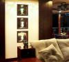 名雕装饰设计-鸿景翠峰二居室雅居-中式客厅沙发背景