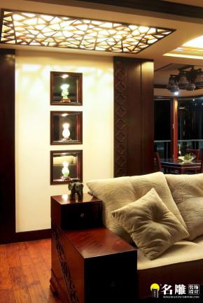 二居 中式 文艺青年 东方韵味 名雕装饰 其他图片来自名雕装饰设计在中式风格-135平二居室雅居装修的分享