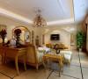 设计理念:简单的背景墙,富贵色的壁纸,暖光源的吊顶,欧式的家具,奢华而又典雅,不失庄重。亮点:简单的背景墙与其他墙面壁纸的呼应,凸显空间的整体性。