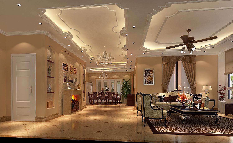 欧式 潮白河孔雀 高度国际 客厅图片来自凌军在潮白河孔雀城197平米---高度国际的分享
