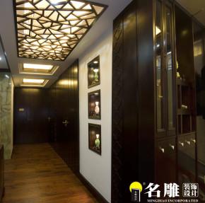 中式 三居 文艺青年 东方雅居 名雕装饰 东方尊峪 其他图片来自名雕装饰设计在现代中式-200平三居室东方雅居的分享